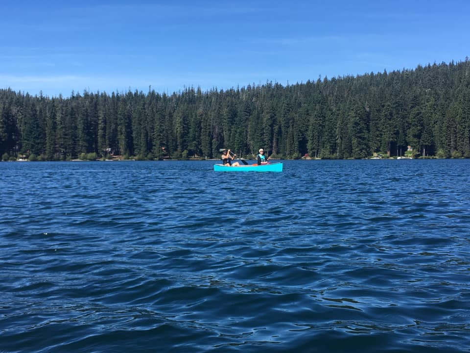 canoe on Odell Lake